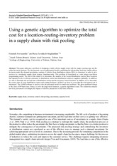 Using a genetic algorithm to optimize the total  cost for a location-inventory-routing problem