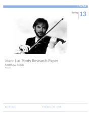 Jean Luc Ponty Research