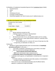 Constitutional Law Outline - Steiker, Fall 2007