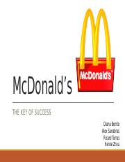 Analysis of McDonald's Strategy