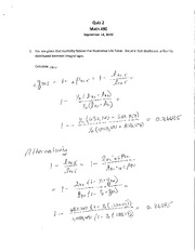 ST472 F10 Quiz 2 Solution
