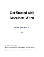 1.1 How to Open Microsoft Word