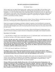 Declaration of Independence - Omitted Portion with Comments and Answers.doc