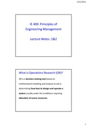 IE400_Lecture Notes 1&2