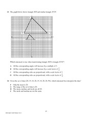 10th Grade Mathematics TAKS Practice Test 1.16-20