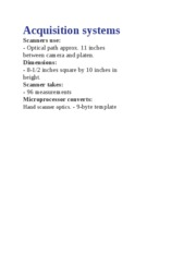 Acquisition systems