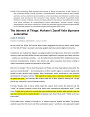 (Assignment 2) Zonoff - Internet of Things