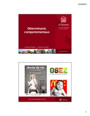 cours 4 Determinants comportementaux