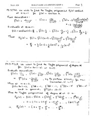 Math 138, Assignment 9 Solutions