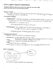 Classnotes Chapters 1-3