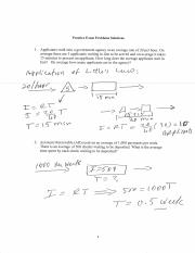 Exam I Practice Problems Solutions
