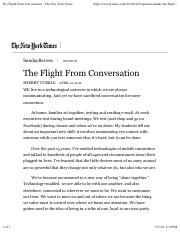 Turkle_The Flight From Conversation.pdf