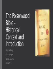Group 4 Historical Context of The Poisonwood Bible