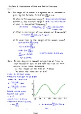 Part 2 Applications of Sine and Cosine Functions