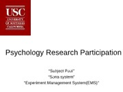 Psychology Research Participation Powerpoint_nonPsyc100