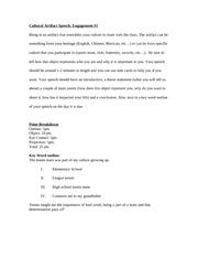 Cultural Artifact Essay Sample