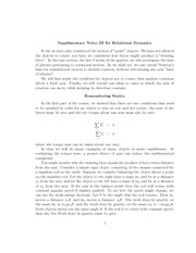 Rotational Inertial and Rotational Dynamics Review