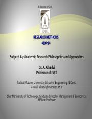 PhD SUBJECT #4 Research Philosophies and approaches.pdf