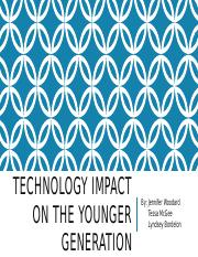 Technology Impact on the younger generation
