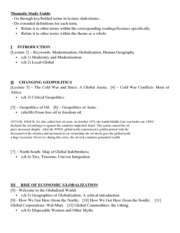 Thematic Study Guide