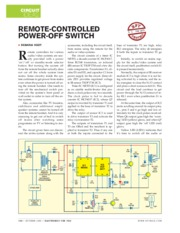 REMOTE CONTROLLED POWER OFF SWITCH