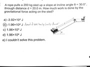 Work Done by Gravity Practice Problem & Answer