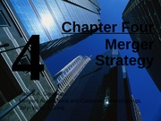 Ch 4 Merger Strategy (updated Jan 21, 2013)