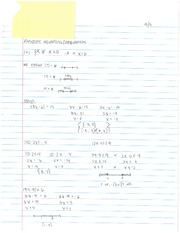 Absolute Equations and Inequalities Notes