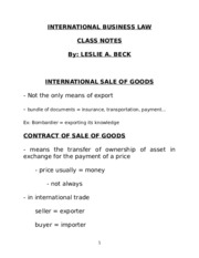 4) International sale of goods