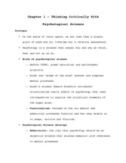 PSY 3369 Ch. 1- Thinking Critically With  Psychological Science