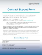 Spectrum Contract Buyout Form Welcome To Spectrum We Look Forward