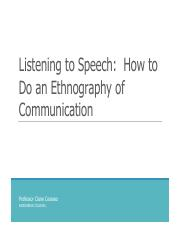Lecture - Listening to Speech_ How to Do an Ethnography of Communication.pdf