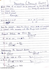 Corporate Finance-Discounting (Discount Factor)