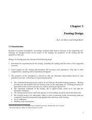 CHAPTER 5 - FOOTINGS