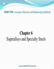Chapter 6 - Superalloys and Specialty Steels