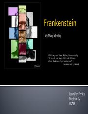 Frankenstein - Romanticism and Mary Shelley