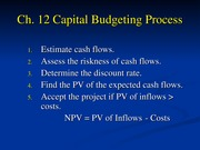 FIL 341 Ch. 12-Capital Budgeting