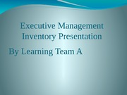 QRB 501 Week 6 Learning Team Assignment Executive Management Presentation