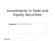 Ch.12 Equity Investing