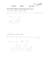 Test 4 Solution on Applied Differential Equations