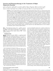 40. Blumenthal_2007-Exercise and Pharmacotherapy........