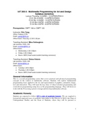 IAT265Syllabus2012Fall-V0