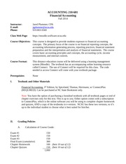 ACC 210 SEC 601 Plummer Syllabus Fall 2014-2
