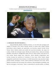 Biografi Nelson Mandela Presiden Afrika Docx Biografi Nelson Mandela U2013 Presiden Afrika Selatan Dan Pejuang Kemerdekaan Kulit Hitam Afrika Selatan Course Hero