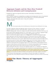 Chapter 14_Aggregate Supply and the Short-Run Tradeoff Between Inflation and Unemployment.docx