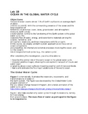 Lab 1B Global Water Cycle