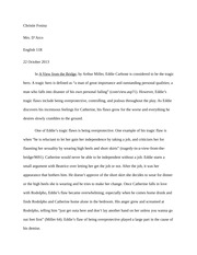 Eddie's tragic hero essay