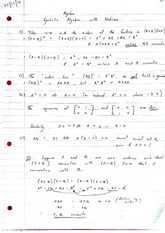 Symbolic Algebra with Matrices Lecture Notes 4