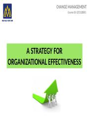 8.A STRATEGY FOR ORGANIZATIONAL EFFECTIVENESS 16-2A