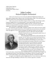Enlightenment Article: John Locke